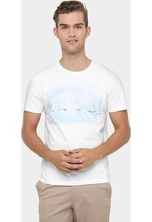 Camiseta Richards Gola Careca Aquerela Veleiros - Masculino