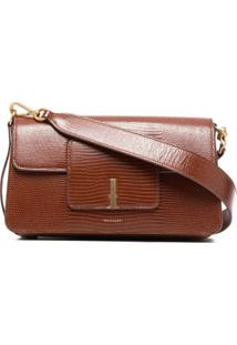 Wandler Lizard-Effect Leather Shoulder Bag - Marrom