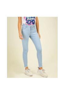 Calça Jeans Skinny Feminina Barra Desfiada Marisa