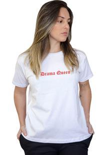 Camiseta Boutique Judith Drama Queen Branco