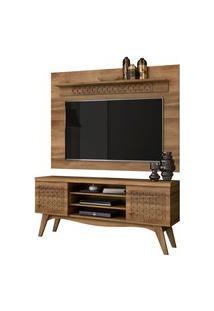 Rack Bancada Lis 02 Portas Com Painel Para Tv Win New Sala De Estar Canela - Frade Movelaria
