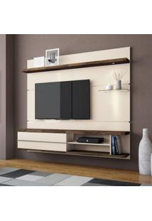 Painel Para Tv 55 Polegadas Epic Off White E Deck 181 Cm