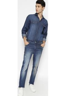 Jeans Alexandre Estonado- Azul- Forumforum