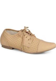 Sapato Oxford Facinelli Furos Bege