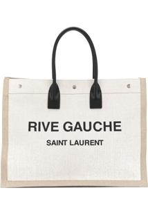 Saint Laurent Bolsa Tote Rive Gauche - Neutro