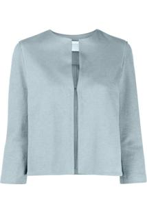 Harris Wharf London Blusa Decote Redondo - Azul
