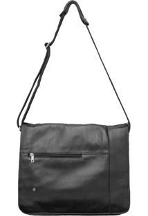 Bolsa Corazzi Leather Deluxe Notebook Preta