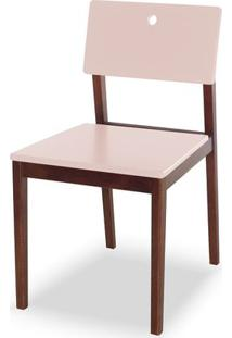 Cadeira Flip Cor Cacau Com Bege Claro - 30833 Sun House