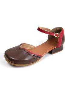 Sapato Feminino Miuzzi Tabaco / Rubi Ref: 3205 - Kanui