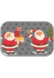 Tapete Decorativo Lar Doce Lar Papai-Noel Natal 40Cm X 60Cm Cinza - Cinza - Dafiti