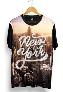 Camiseta Bsc New York Sunset Full Print - Masculino-Preto