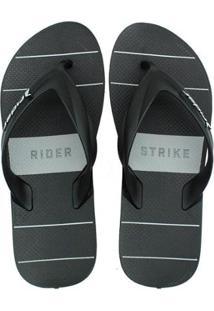 Chinelo Rider Strike Graphics Masculino - Masculino-Preto+Cinza