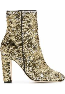 Paris Texas Ankle Boot Com Paetês - Dourado