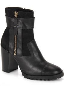 Ankle Boots Feminina Brenda Lee - Preto
