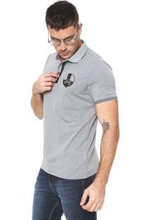 Camisa Polo Crocker Reta Cinza