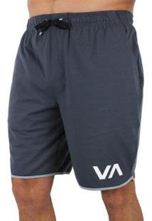 Bermuda Rvca Sport Slate - Masculino-Cinza