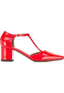 L'Autre Chose Scarpin D'Orsay - Vermelho