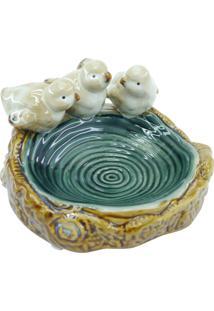 Saboneteira Kasa Ideia De Cerâmica Passarinhos