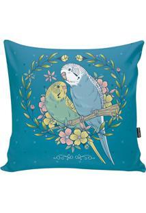 Capa De Almofada Birds- Azul & Rosa- 42X42Cm- Ststm Home