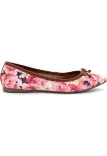 Sapatilha Royalz Laço Floral Roses - Feminino-Rosa