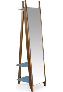 Espelho Stoka 169,5 Cm 988 Nogal/Azul Serenata - Maxima