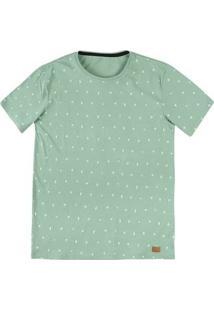 Camiseta Masculina De Algodão Slim Estampada