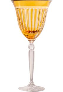 Taça De Cristal Lodz Para Vinho De 200 Ml - Âmbar Escuro
