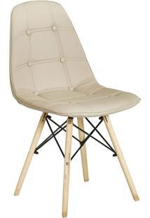 Cadeira Eiffel S/Branco Botone Pu Nude Rivatti