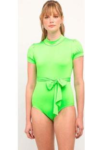 Body Elora Neon Feminina - Feminino-Verde