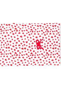 Monnalisa Cobertor Com Estampa De Coração - Rosa