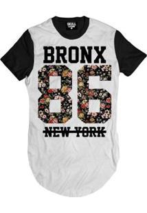 Camiseta Longline Bronx 86 New York Masculina - Masculino
