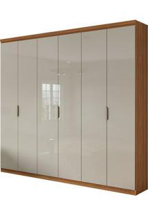 Guarda Roupa Alonzo Plus 6 Portas Rovere Naturale/Off White