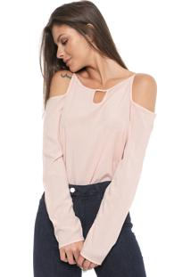 Blusa Ciganinha Cativa Recorte Rosa