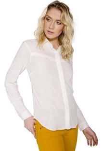 Camisa Básica Recorte Handbook - Feminino-Off White