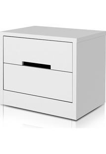 Criado-Mudo S822-Br 2 Gavetas Branco - Kappesberg