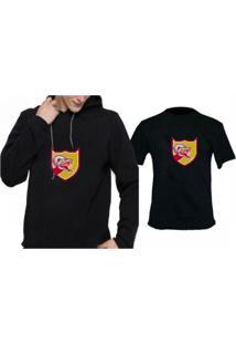Moletom + Camiseta Triztam Cobra 01 Preto