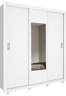 Roupeiro 3 Portas Malibu C/ Espelho Branco Tcil Móveis