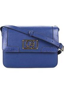 25405438f ... Bolsa Couro Jorge Bischoff Flap Estruturada Feminina - Feminino-Azul