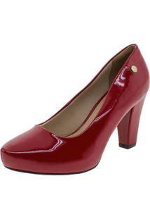 Sapato Feminino Salto Alto Via Uno - 321002 Vermelho