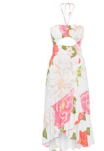 Vestido Paraíso Floral - Off White