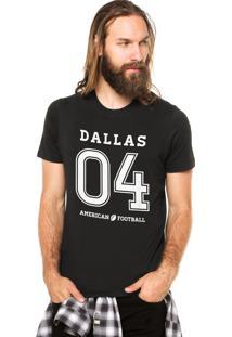 Camiseta Rgx Dallas American Football Preta