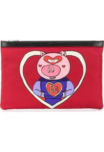 Dolce & Gabbana Pasta De Documentos 'Super Pig' - Vermelho