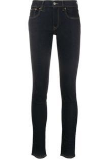 Polo Ralph Lauren Mid-Rise Slim-Fit Jeans - Azul