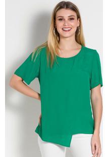Blusa Assimétrica Verde Colcci