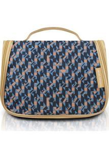 Necessaire De Viagem Estampa Zigzag Jacki Design City Azul