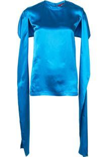 Sies Marjan Oversized Open Sleeve Top - Azul