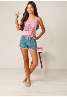 Pijama Nadador Donuts Feminino Malwee Liberta