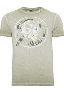 Camiseta Masculina Skull Dirk - Verde
