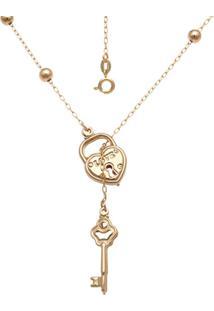 Gargantilha Prata Mil Com 6 Bolinhas 5M Dourado - Dourado - Feminino - Dafiti
