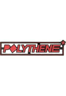 Polythene* Optics Botton Com Logo - Vermelho